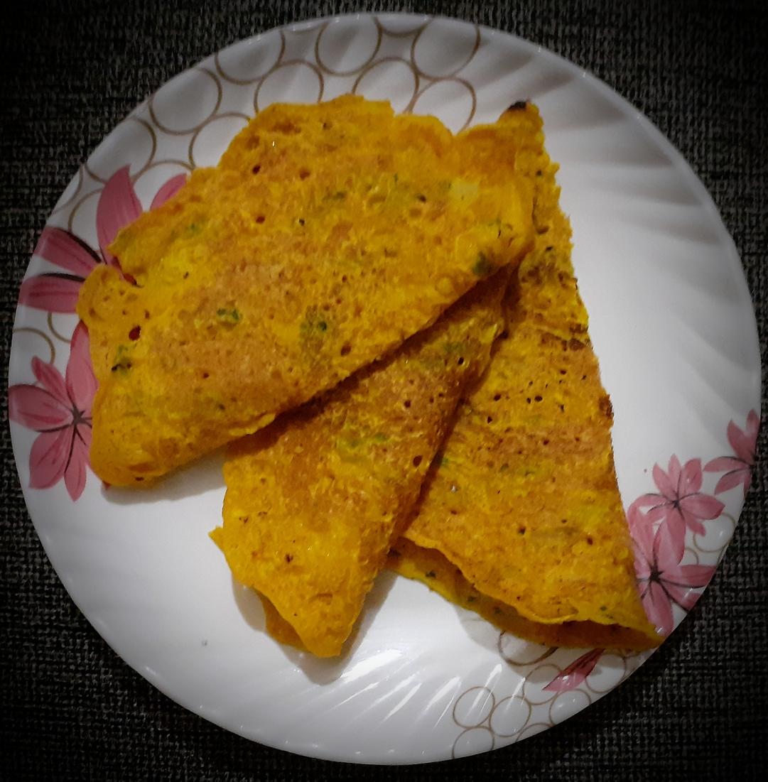 Instant Besan Cheela (Gram Flour Pancake)