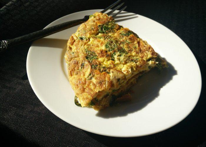 mix vegetable egg omelette